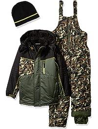 ce9fe302ce iXtreme Boys Camo Print Snowsuit W 2fer Vestee Detail