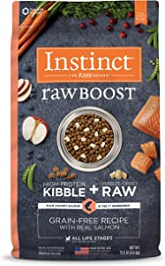 Instinct Raw Boost Grain Free Recipe with Real Salmon Natural Dry Dog Food by Nature's Variety, 19 lb. Bag