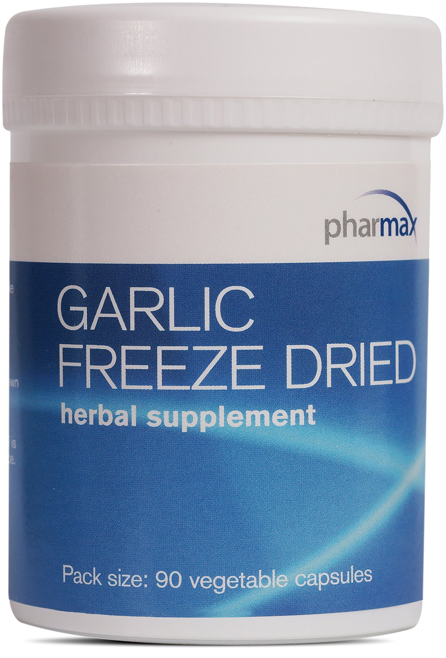 Pharmax - Garlic Freeze Dried - Supports Upper Respiratory Tract and Cardiovascular Health* - 90 Capsules