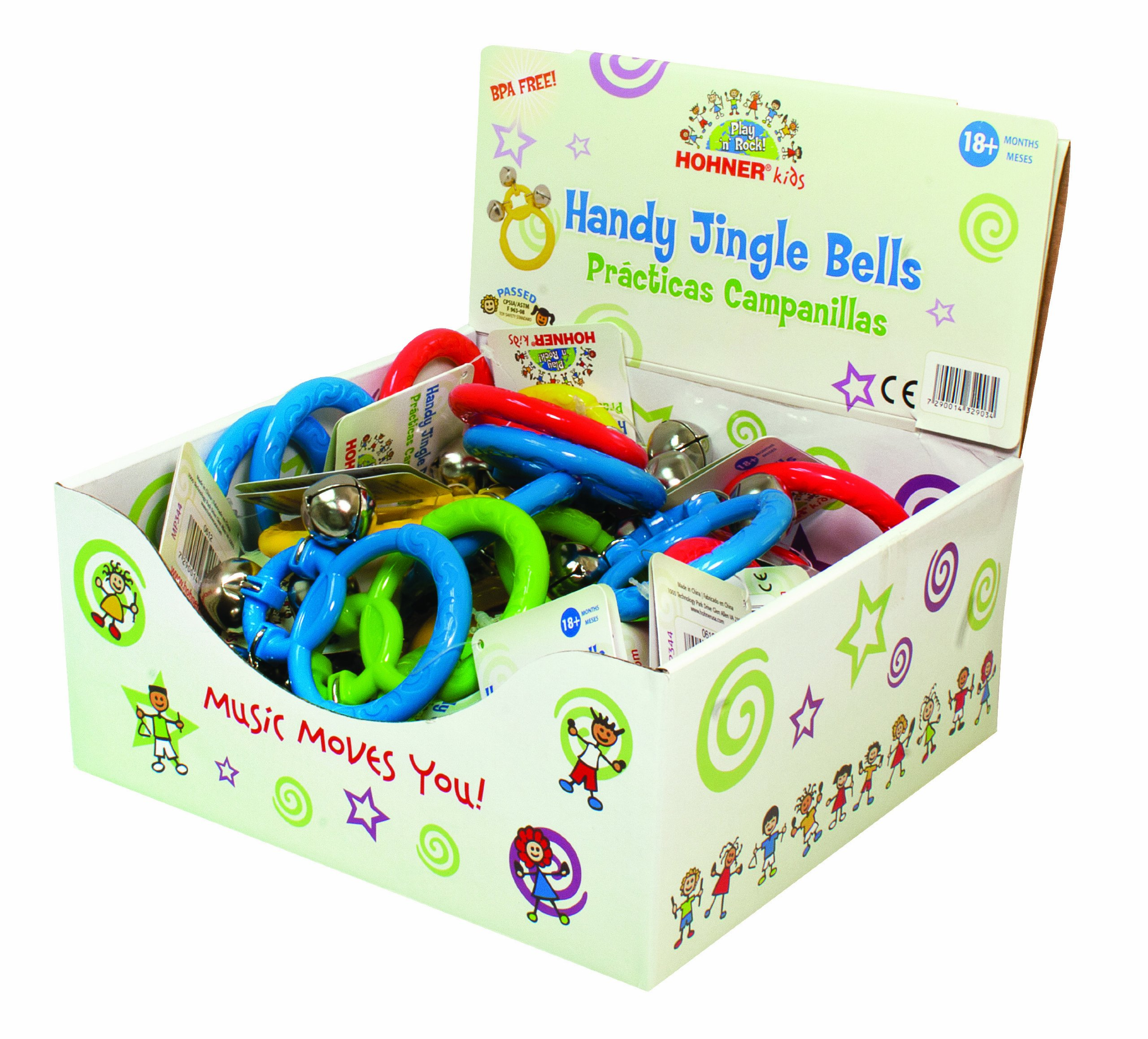 Hohner Kids Jingle Bells Display Box Rattle, 24-Pack