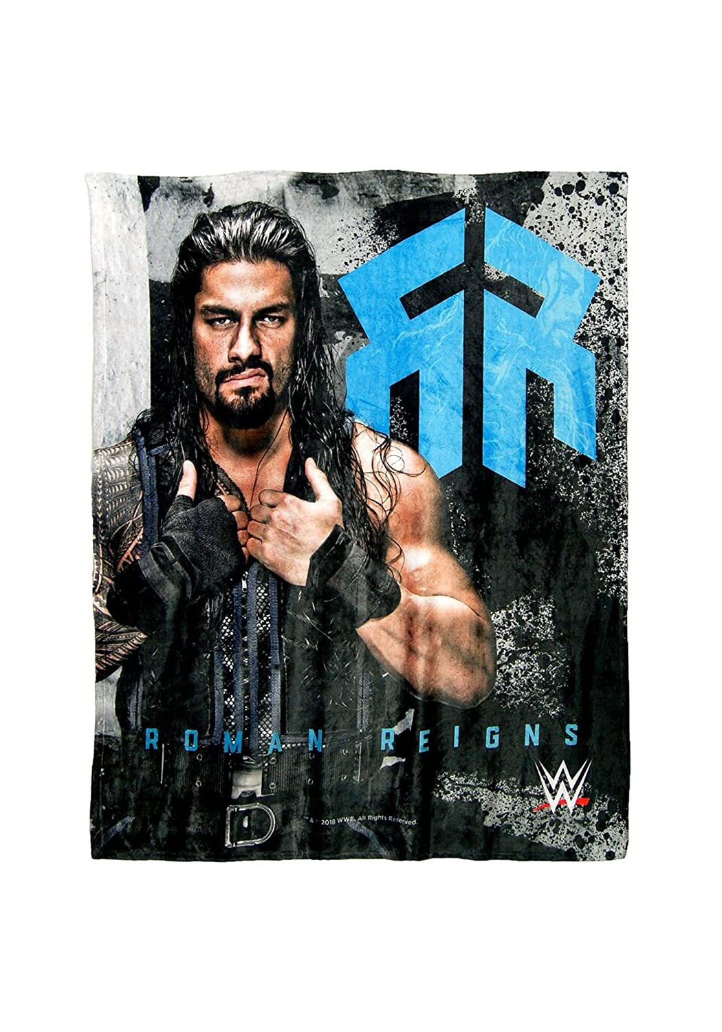 "WWE   Roman Reigns HD Silk Touch Throw Blanket, 50"" x 60"", Multicolor"