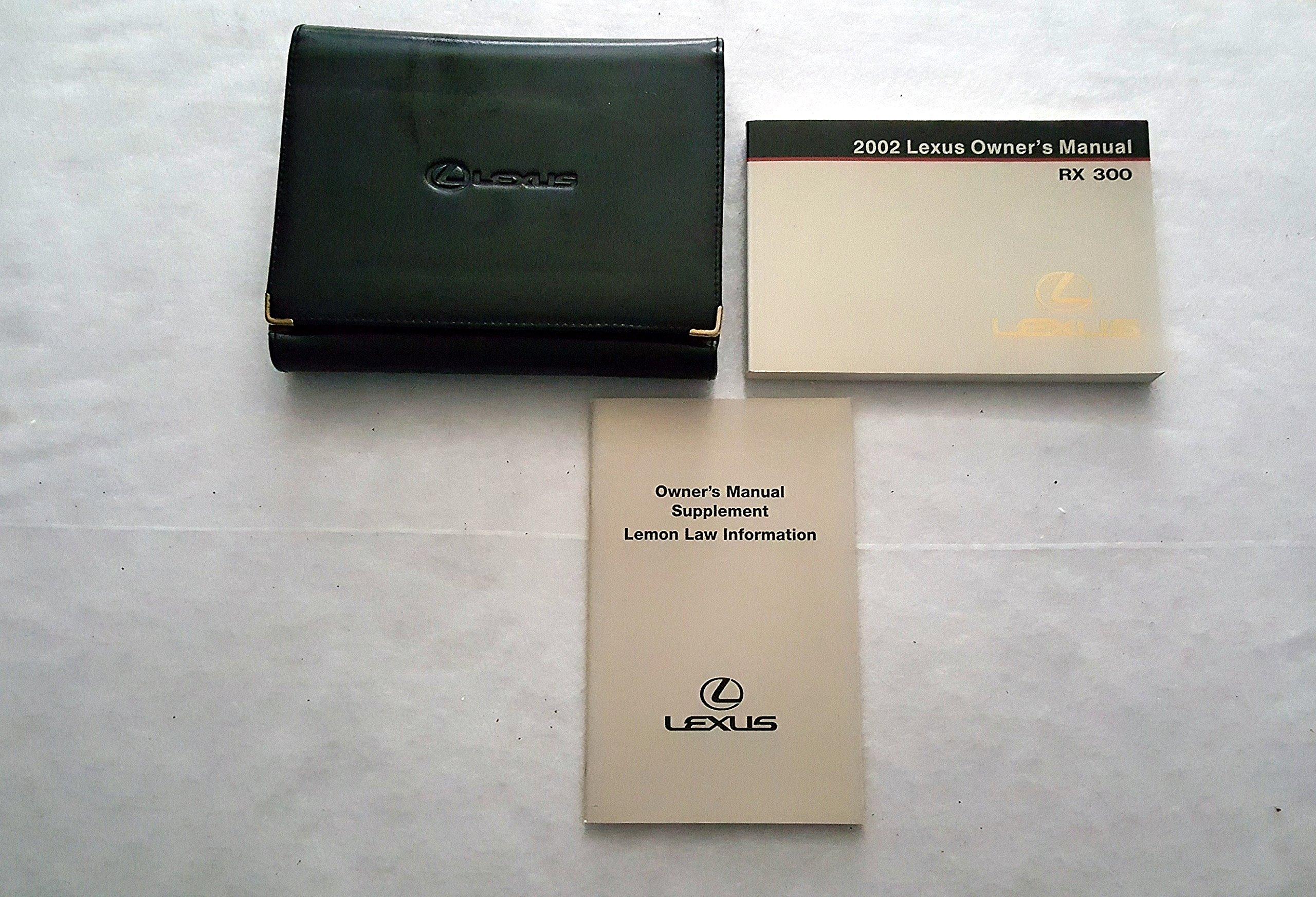 2002 Lexus ES300 Owners Manual Guide Book: Lexus dealer: Amazon.com: Books