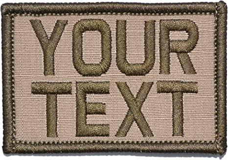 """Custom Name Patch Hook And Loop 5/"""" X 1""""  Embroidered Tactical Air Soft Morale ."""