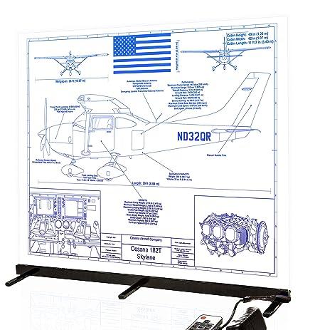 Amazon cessna 182 skylane personalized laser engraved blueprint cessna 182 skylane personalized laser engraved blueprint artwork custom artwork for the aviation and cessna malvernweather Gallery