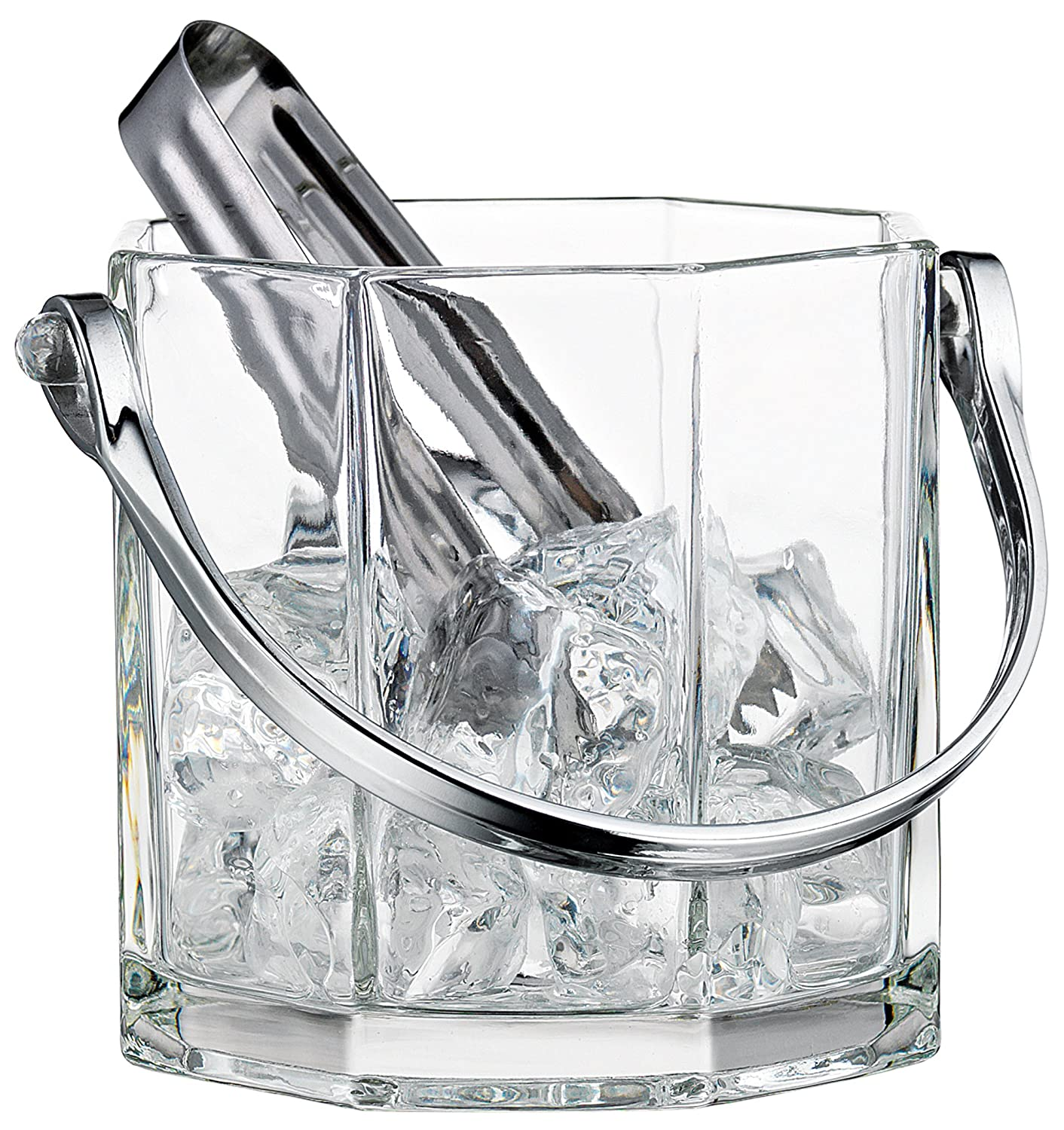 Home Essentials & Beyond 8966 30 oz. Tablesetter Paneled Ice Bucket with Tongs SYNCHKG069188