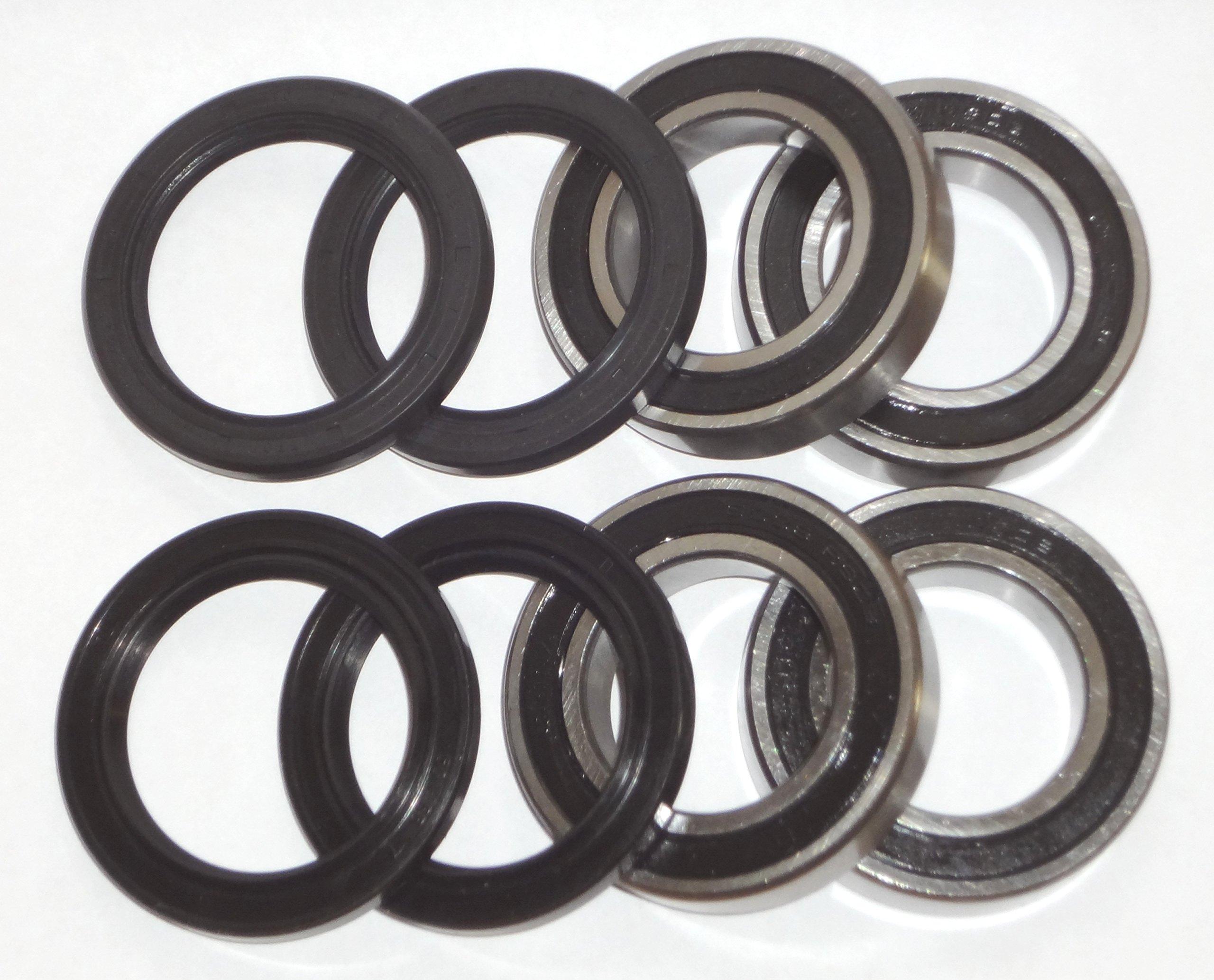 Both Honda TRX300 300 Fourtrax 2wd Front Wheel Bearings Seals 1993 - 2000