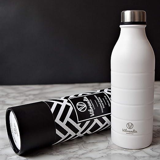 Vibrandia - Botella de Agua Reutilizable, de Acero Inoxidable de ...