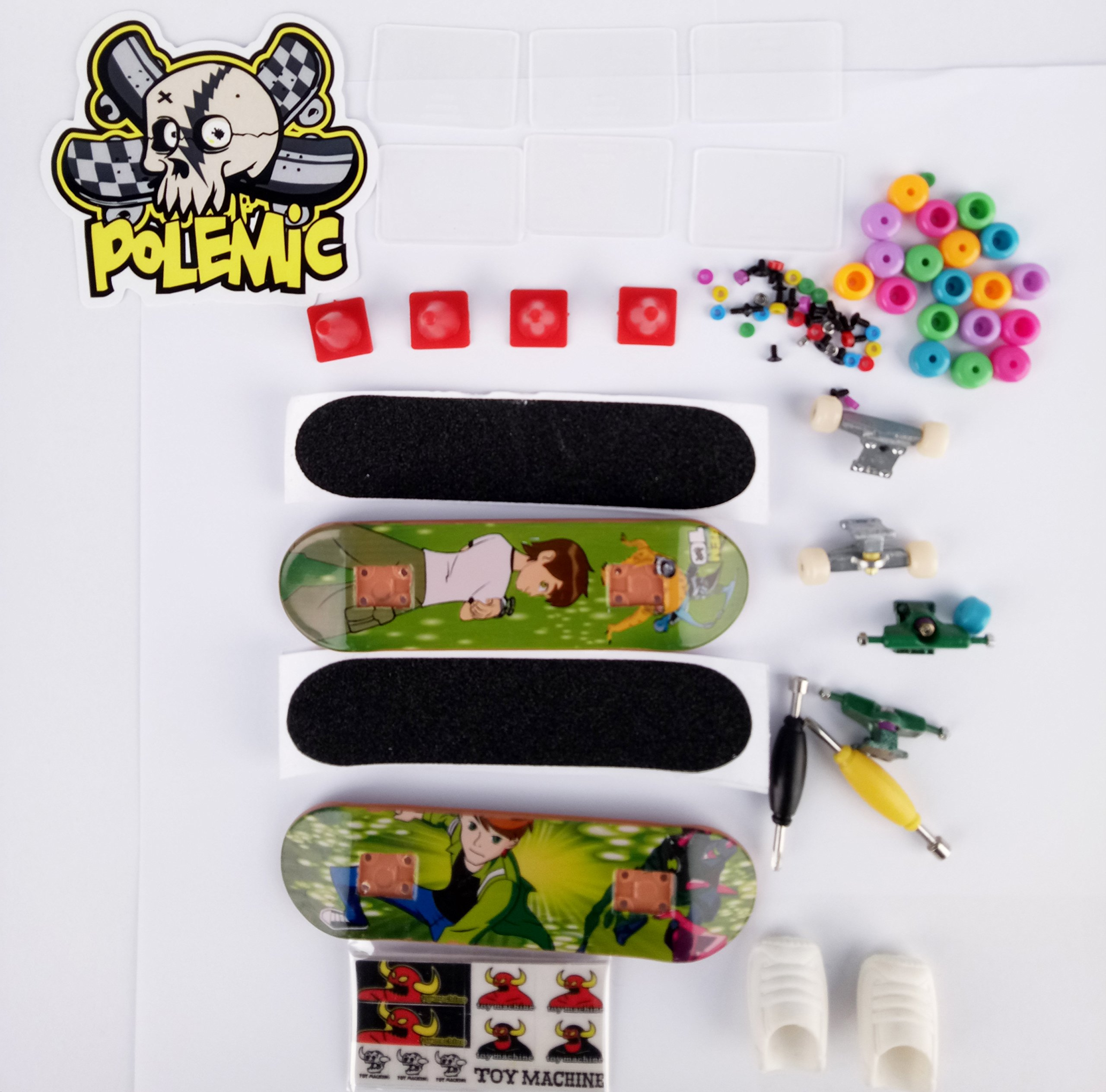 Fanci ABS Finger Skateboard Set Double Rocker DIY Mini Finger Boarding Toy with Storage Box by Fanci (Image #8)