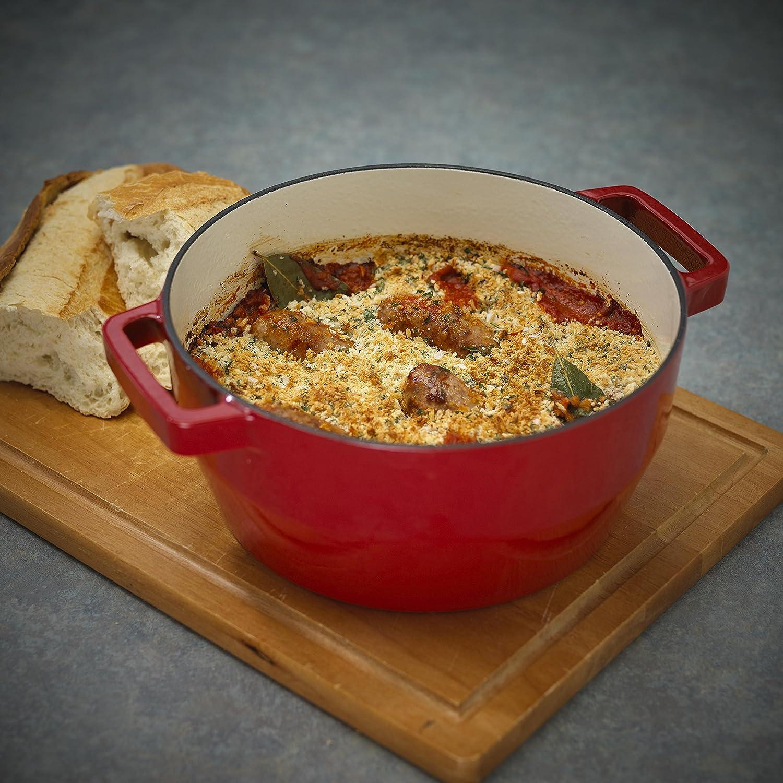 Pyrex Slow Cook - Cacerola De Hierro Fundido Redonda,24 Cm, 3,6 L, Todos Los Fuegos