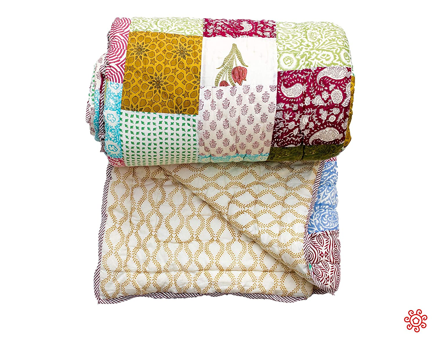 Image of All New Roysha 2020 Queen Quilt Collection - 100 Percent Handmade Patchwork Quilt - Qpw/206 Home and Kitchen