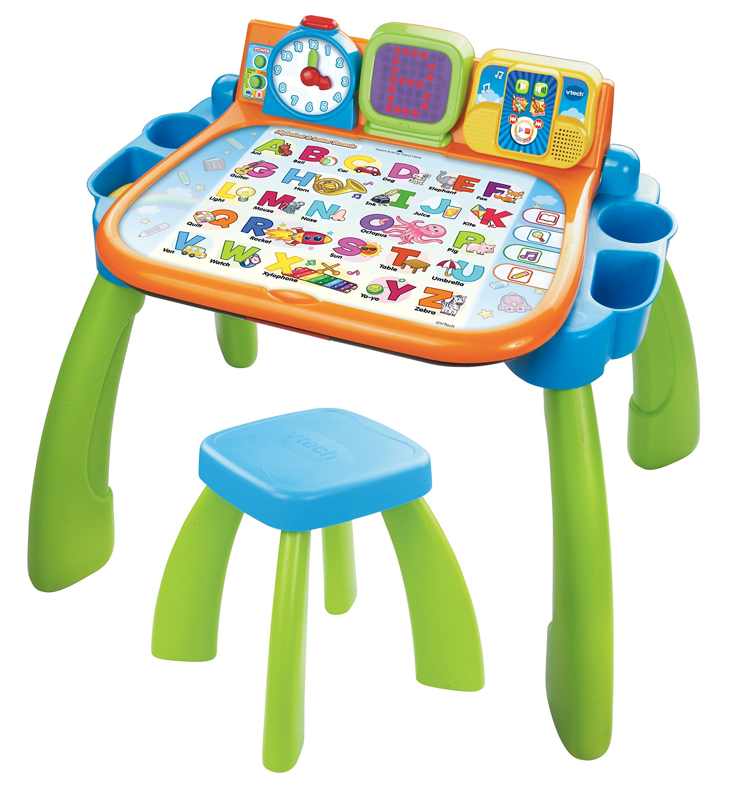 VTech Touch and Learn Activity Desk (Frustration Free Packaging), Green by VTech