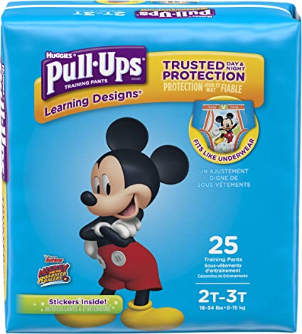 2T-3T 74 C... 18-34 lb. Pull-Ups Cool /& Learn Potty Training Pants for Girls