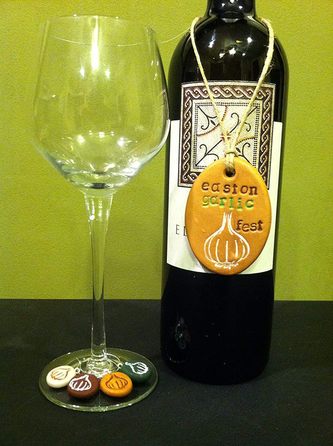 Bottle Tag /& Wine Glass Charms Set