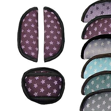 Bambiniwelt 3tlg Set Gurtpolster Schrittpolster Universal Für Babyschale Gruppe 0 Z B Maxi Cosi Römer Sterne Bordeaux Sterne Xx Baby
