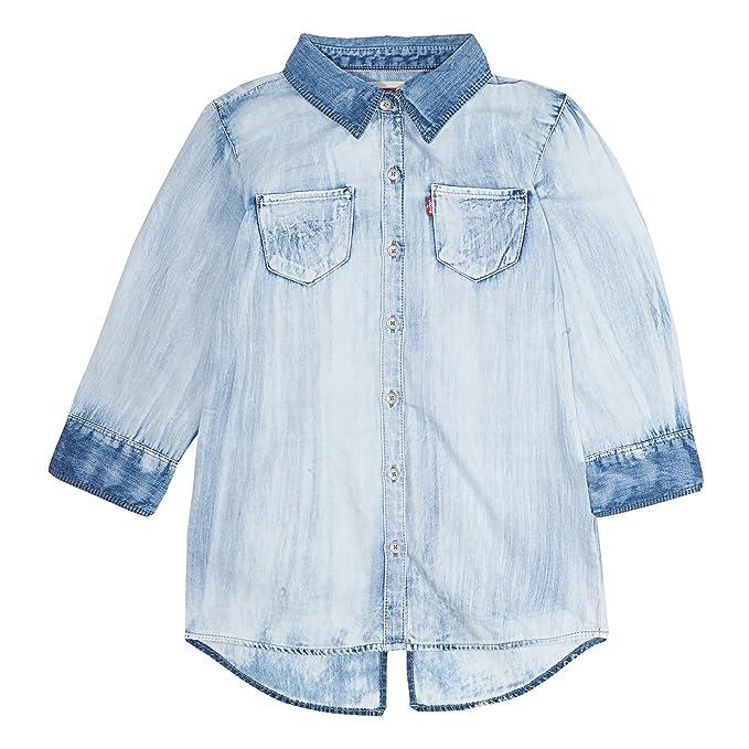 Levi S Girls 3 4 Sleeve Button Up Shirt