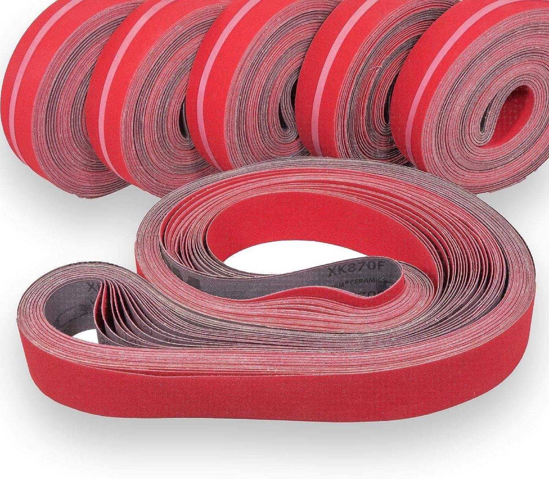 750 x 200 mm Lot de 5 ponceuses /à bande RETOL bandes abrasives p G36 c/éramique