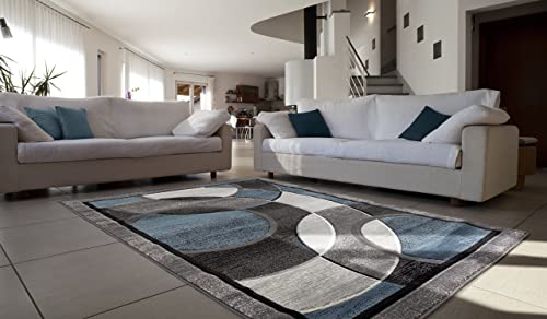 All New Modern Contemporary Circle Carved Design Area Rug Legacy Collection