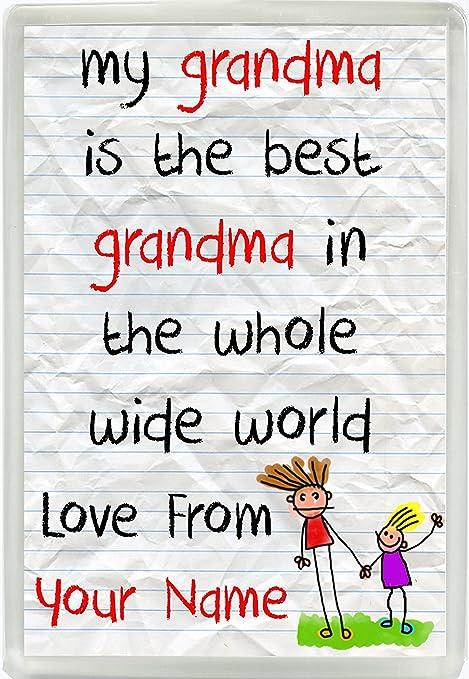 Mi abuela es la mejor abuela en el mundo amor de ...