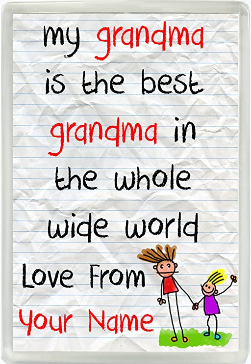 Mi abuela es la mejor abuela en el mundo amor de personalizada ...