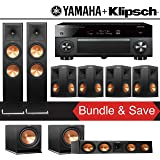 Klipsch RP-280F 7.2-Ch Reference Premiere Home Theater System with Yamaha AVENTAGE RX-A2070BL 9.2-Channel Network AV Receiver