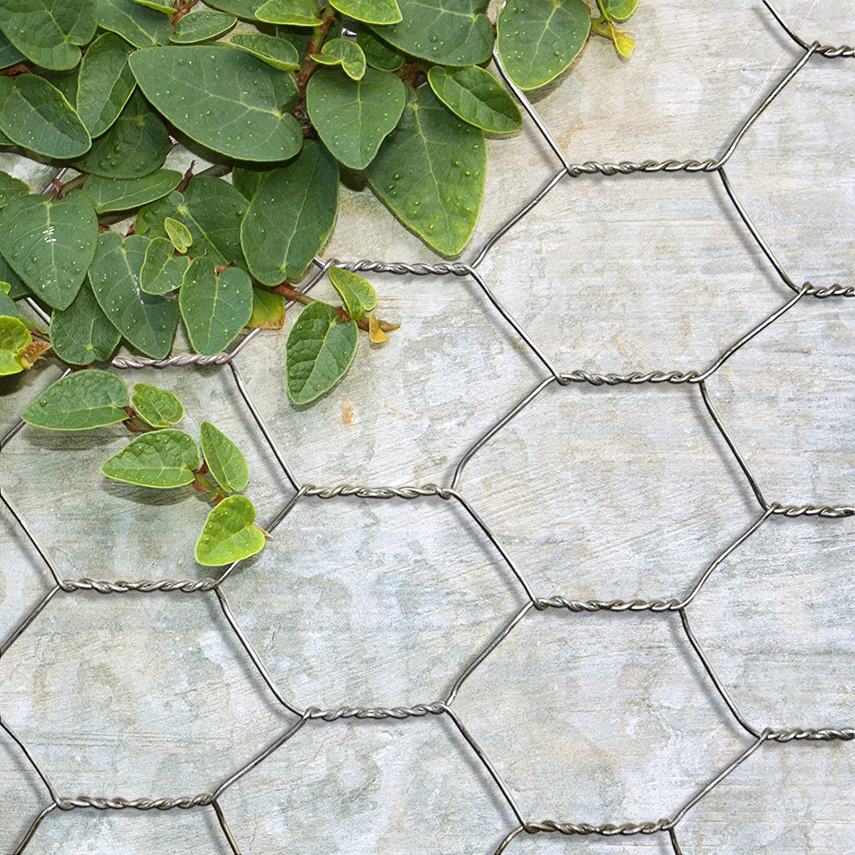 Bricolage 75cmx25m Tailles au Choix casa pura Grillage pour Jardin cl/ôture zingu/é r/ésistant aux intemp/éries diam/ètre de Maille 13mm