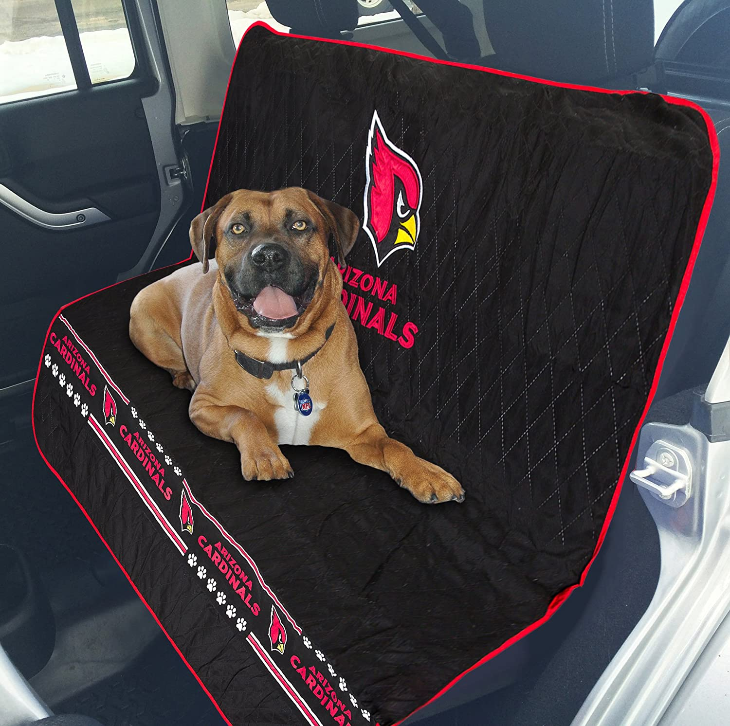 NFL CAR SEAT Cover. Pet Car Seat Cover. Dog Seat Cover. Waterproof Bench Seat Cover. Football Car Seat. Available in 32 NFL Teams . Premium Pet Seat Cover. (Arizona Cardinals)