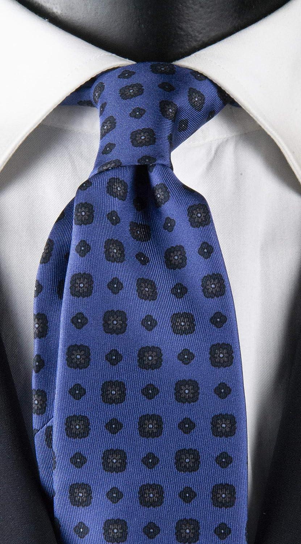 Corbata de hombre con impresión azul lavanda con micro fantasía ...