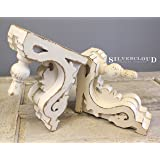"Silvercloud Trading Co. Architectural Corbels, Wall Shelf, Bookends - Large 11"" - Sold as Set of 2 - Ready to Hang - Painted & Distressed"