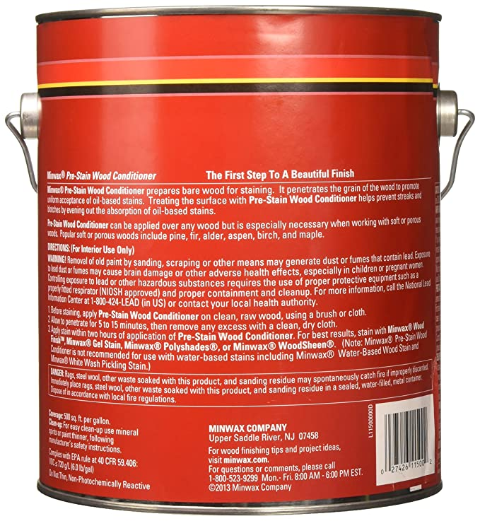 Minwax 61500444 Pre Stain Wood Conditioner 1 Quart Household Wood