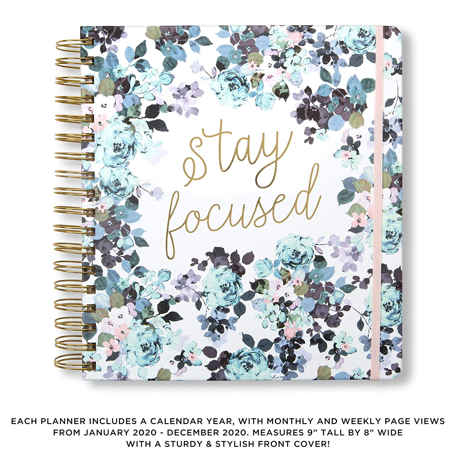 2020 Stay Focused, 12 Month Daily Planners/Calendars: Tri-Coastal Design Planners with Monthly, Weekly and Daily Views - Personal Planner Notebook for ...