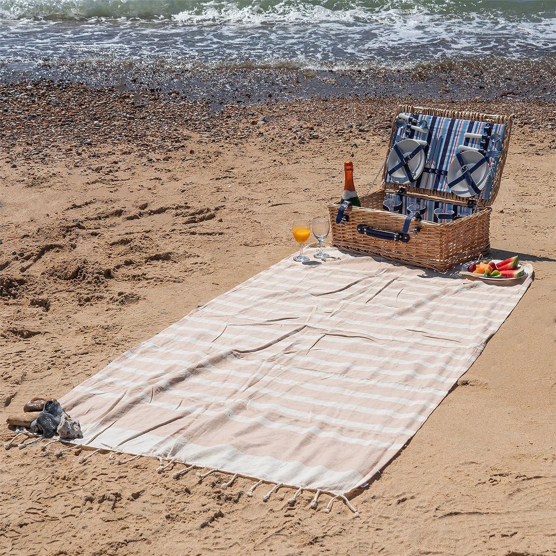Azul marino//gris Hammam Peshtemal Futa estilo de tiro de hojas Conjunto de 2 Nicola Spring 100/% algod/ón turco Toallas Ba/ño de la playa Gimnasio Sauna