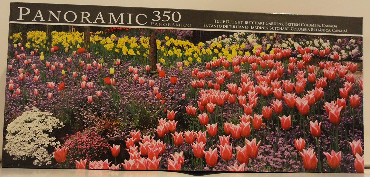 Amazon.com: Panoramic 350 Tulip Delight, Butchart Gardens, British ...