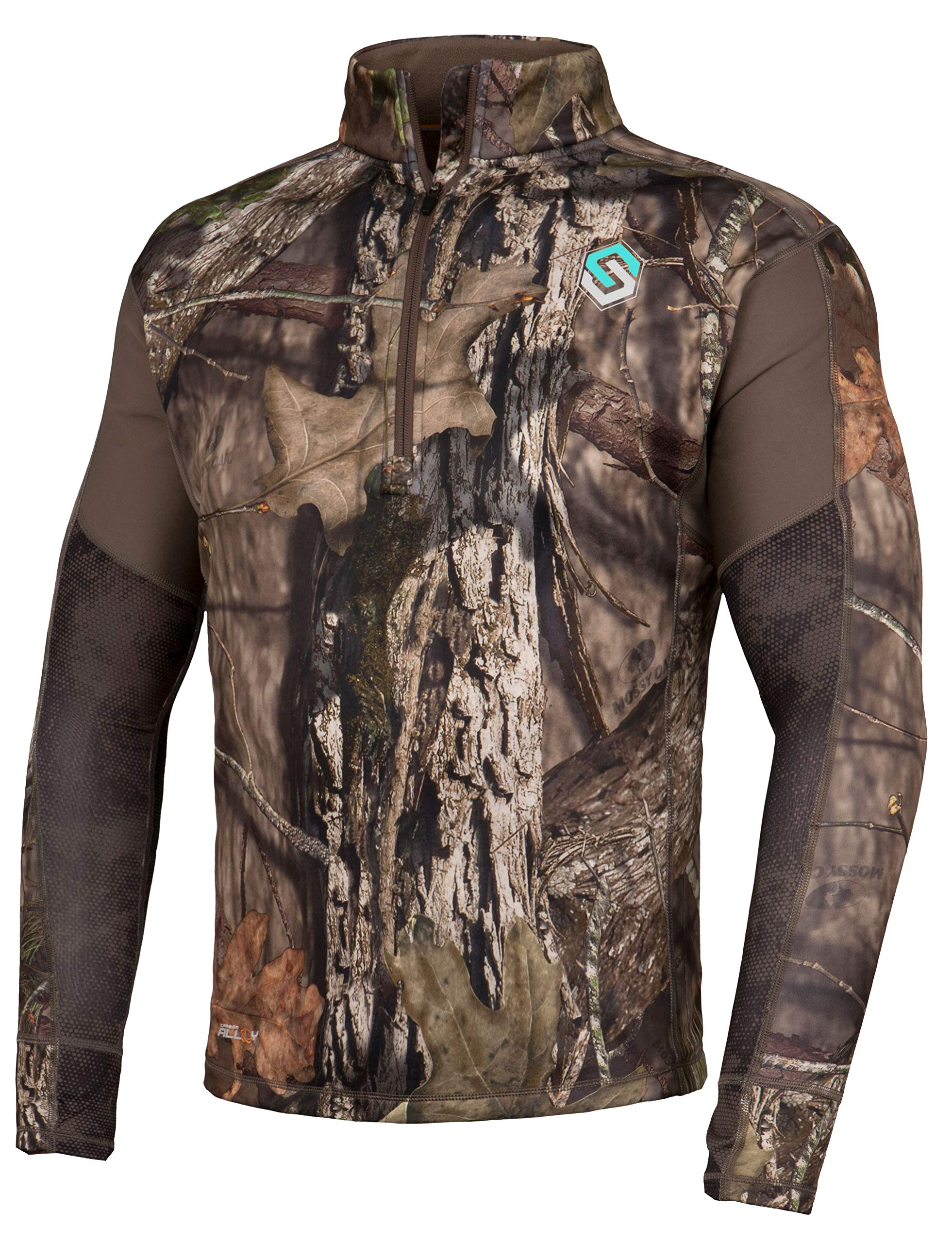 ScentLok Womens BaseSlayer AMP 1/4 Zip Top (Mossy Oak Country, X-Small) by ScentLok