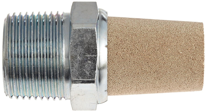 Parker EM37 EM Series Sintered Bronze Muffler/Filter, 3/8