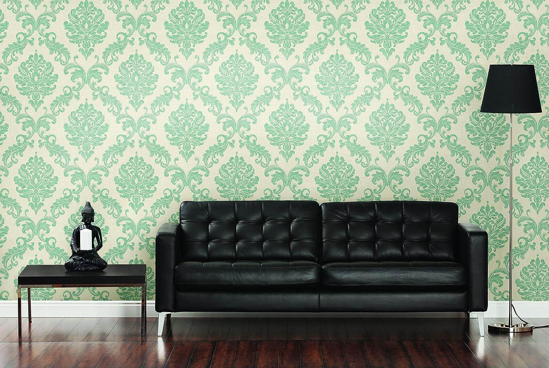 beacon house 450 67360 sebastion beige damask wallpaper beige wallpaper for wall beige amazoncom - Contemporary Damask Wallpaper