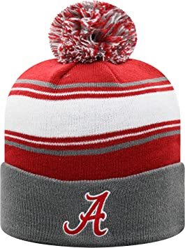 NCAA Cuffless Beanie Knit Hat Top of the World Reversible Abrazed Skull Cap