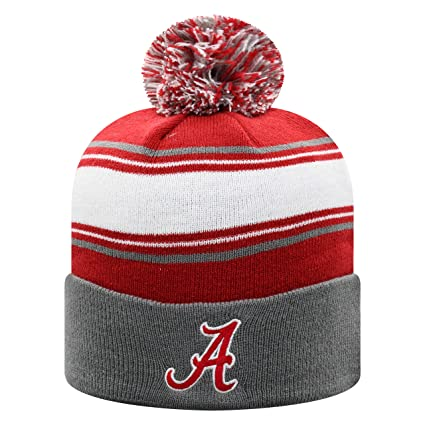 huge discount f87b1 c94d5 Top of the World Alabama Crimson Tide Men s Winter Knit Hat Icon, Charcoal,  One