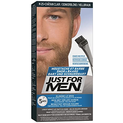 Just For Men - Tinte de barba y bigote para hombre, color bronceado (M25