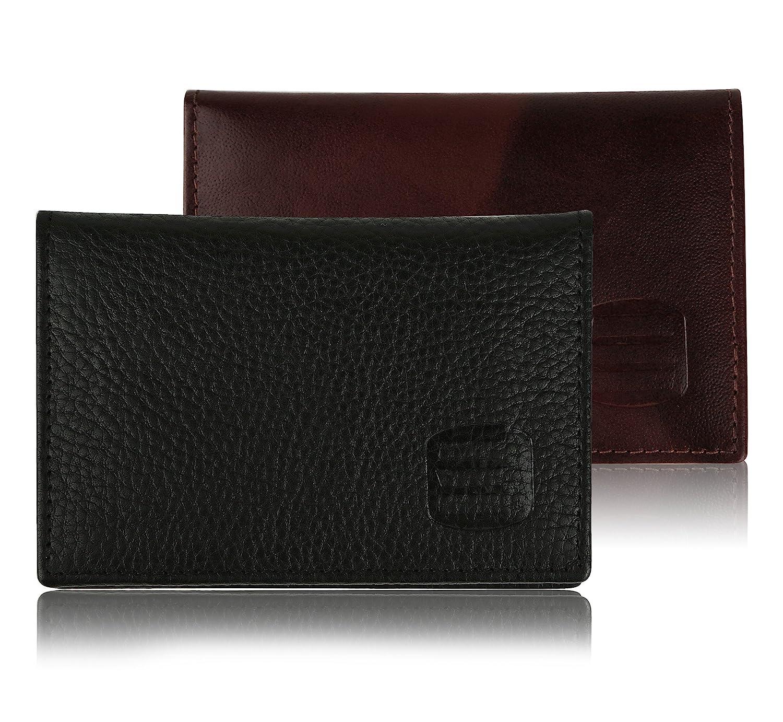 9483eb6b85f Suvelle Mens Thin RFID Blocking Slim Leather Card Holder Minimalist Front  Pocket Wallet WR100