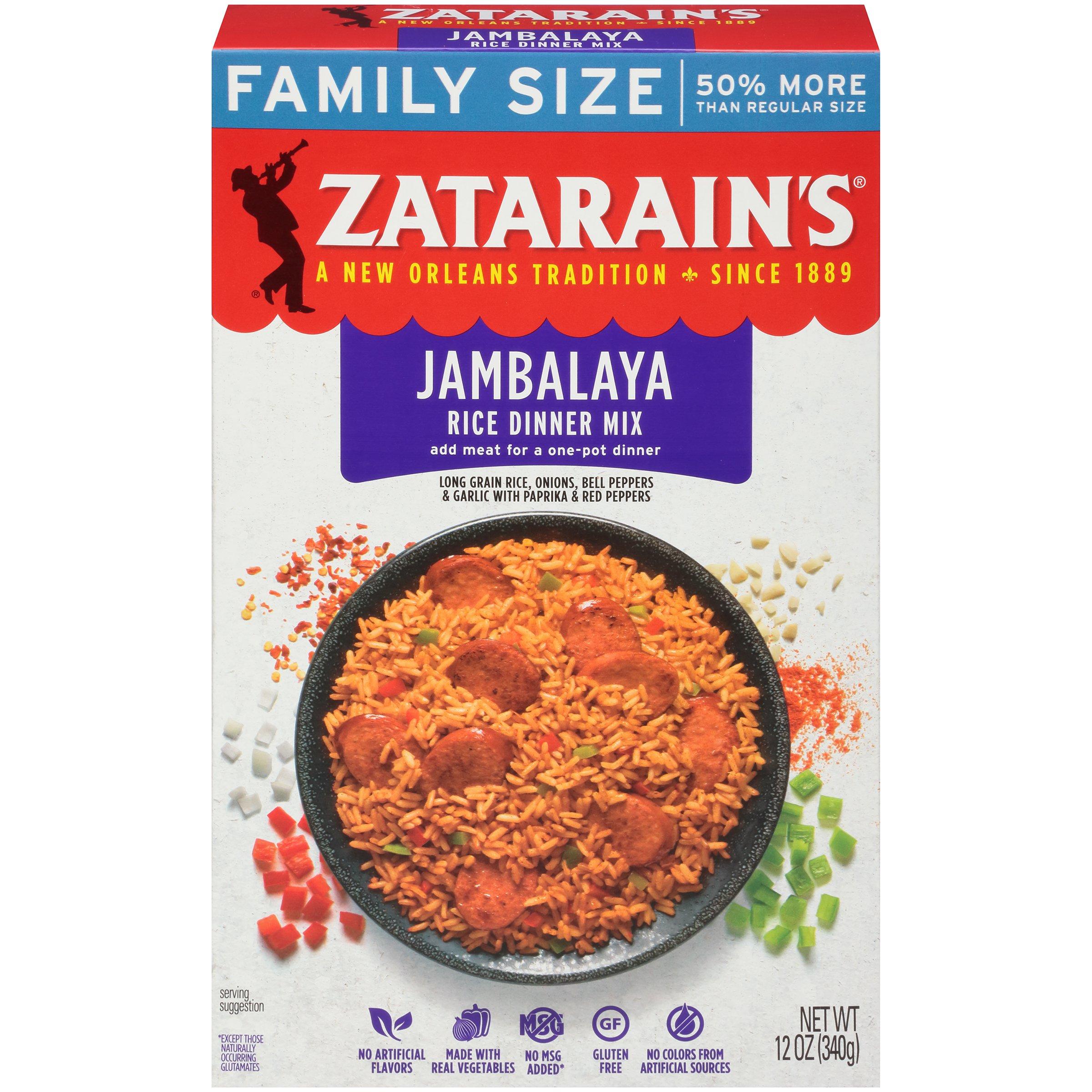 Zatarain's Jambalaya Family Size, 12 oz (Case of 8)