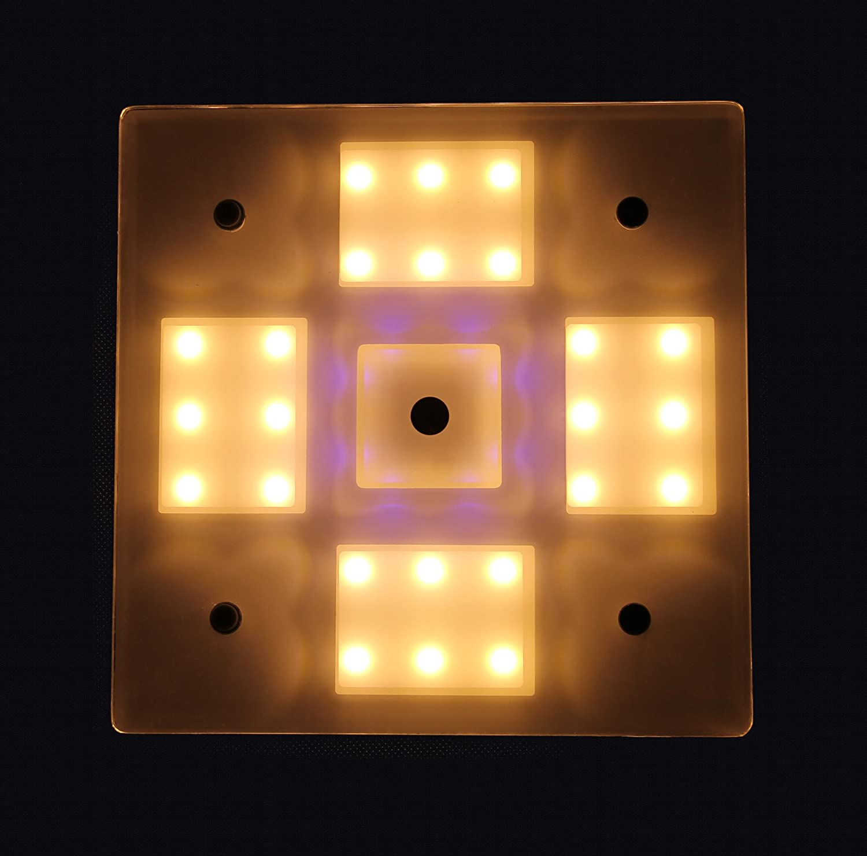 Classe /énerg/étique A+ blanc chaud // bleu LIGHTEU 12V 2,6 W Lampe LED Camping-Cars et Bateaux du B/âtiment ou de Plafond avec Touch Interrupteur et Tactile Variateur pour les Caravanes Yachts Marins Deux Couleurs