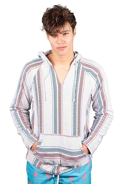 Brooklyn Surf Mens Baja Hoodie Pullover Sweatshirt Mexican