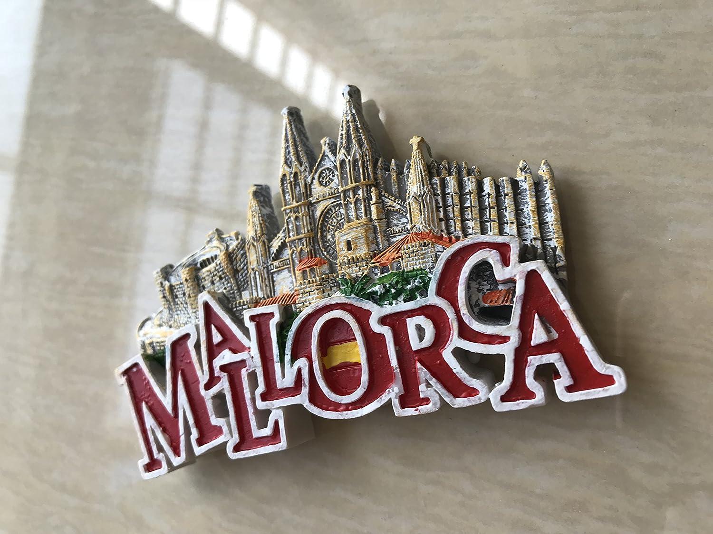 MUYU Magnet Palma Cathedral Mallorca Imán para Nevera, 3D, Letras ...