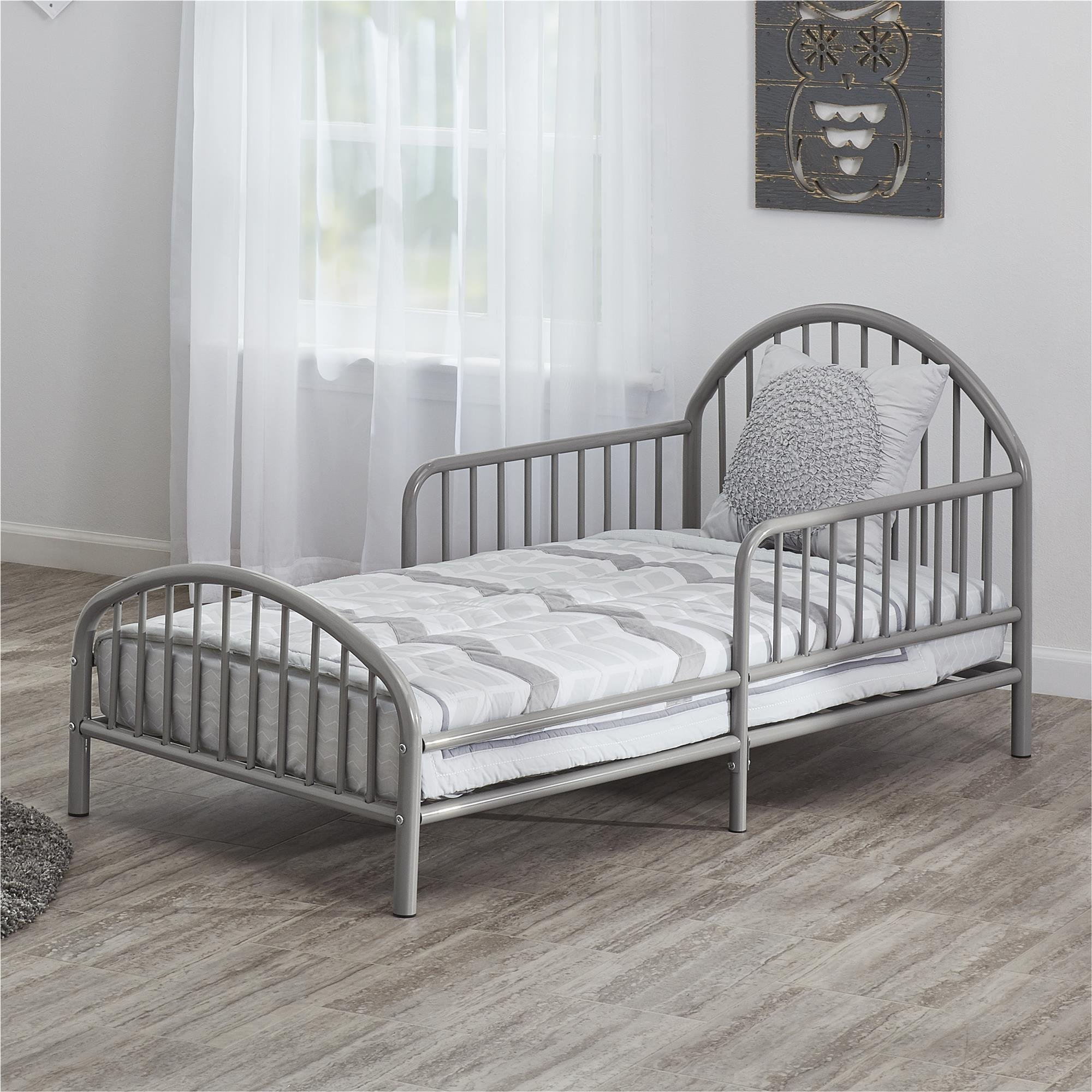 Novogratz Prism Metal Toddler Bed, Grey by Novogratz
