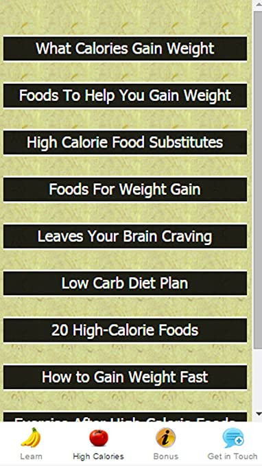 Amazon High Calorie Foods Help You Gain Weight Appstore For