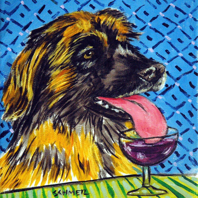 St bernard taking bath animal dog art tile coaster gift