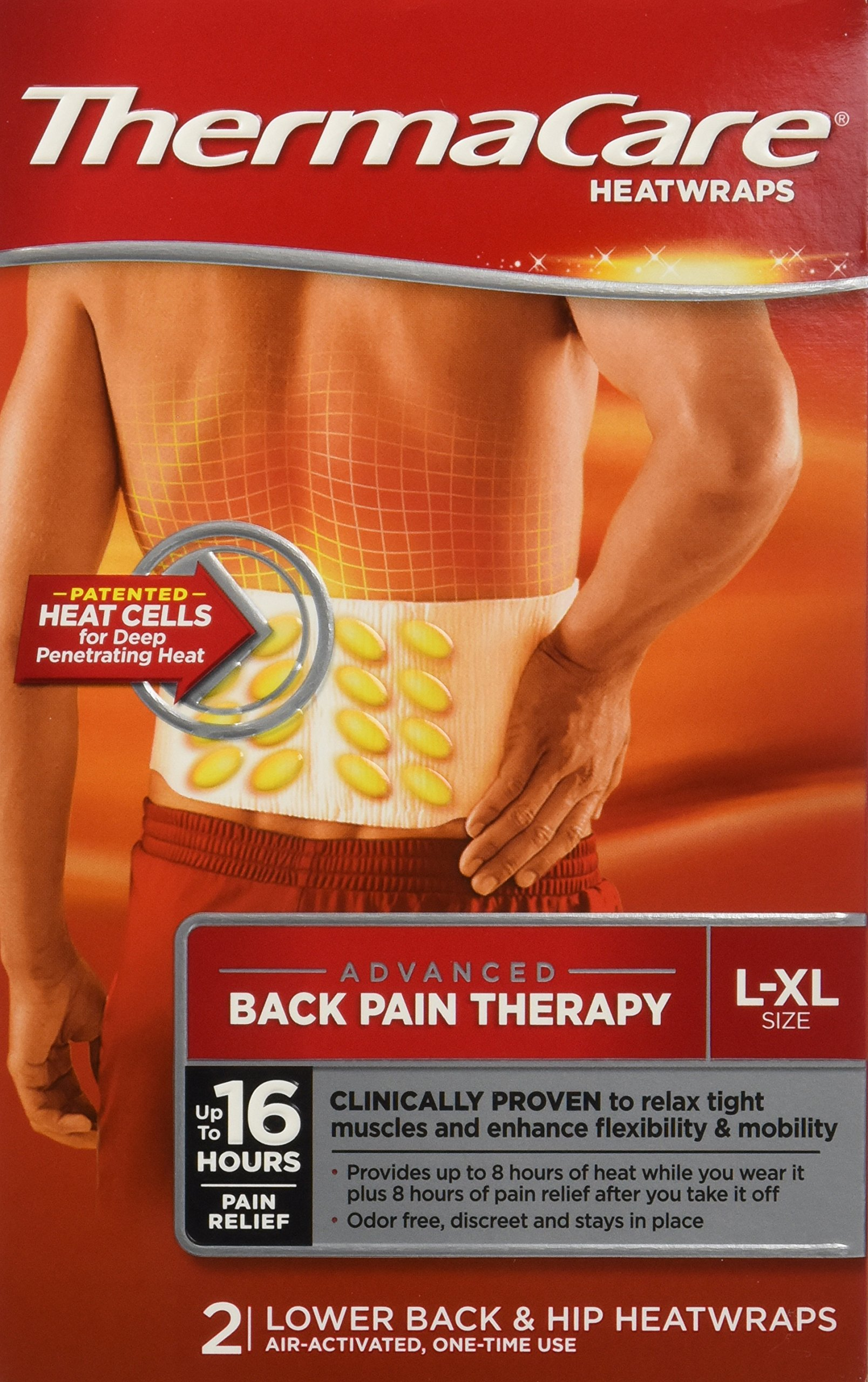 Thermacare Heatwraps Lower Back & Hip, L-XL-6 Count