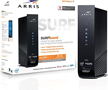 Arris SURFboard Cable Modem/Router with McAfee Home Internet Protection