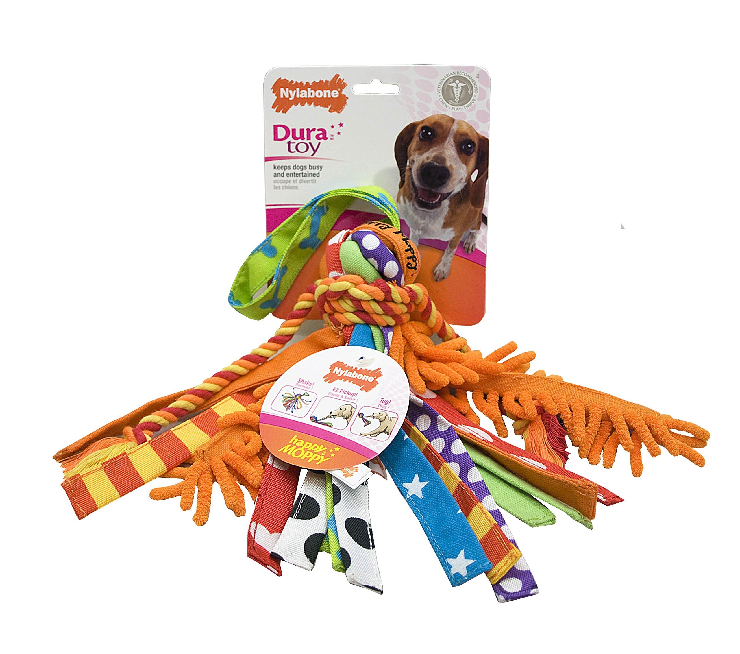 Nylabone Interactive Medium Happy Moppy Dog Chew Toy by Nylabone (Image #1)