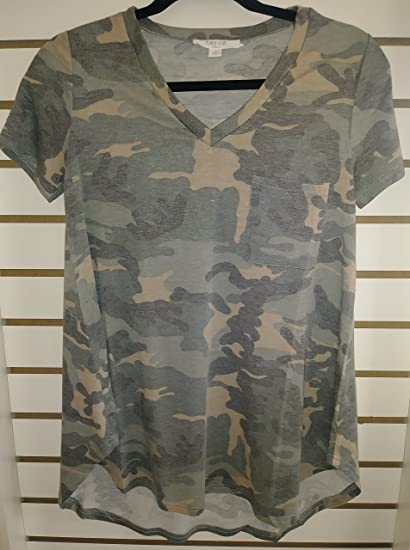 e3cadca0 Distressed Camo Tee at Amazon Women's Clothing store: